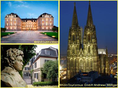 2つの世界遺産 ケルン大聖堂、アウグストゥスブルク城とボン 1日観光
